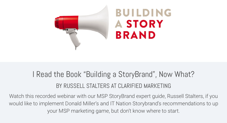 """I Read the Book """"Building a StoryBrand"""", Now What?"""