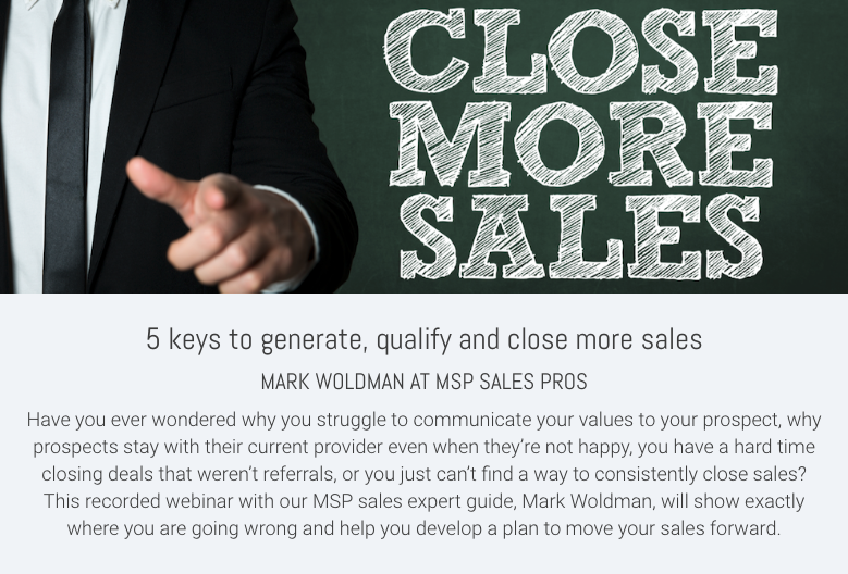 5 keys to generate, qualify and close more sales