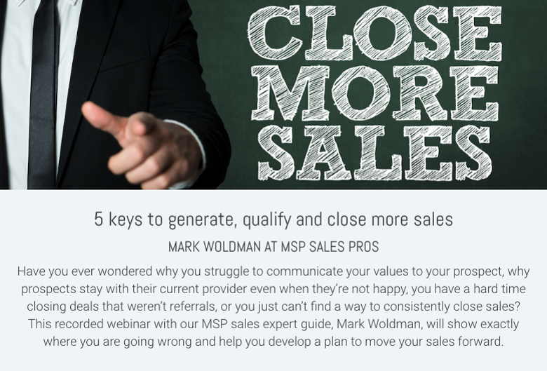 5 keys to generate, qualify and close more sales FREE seminar