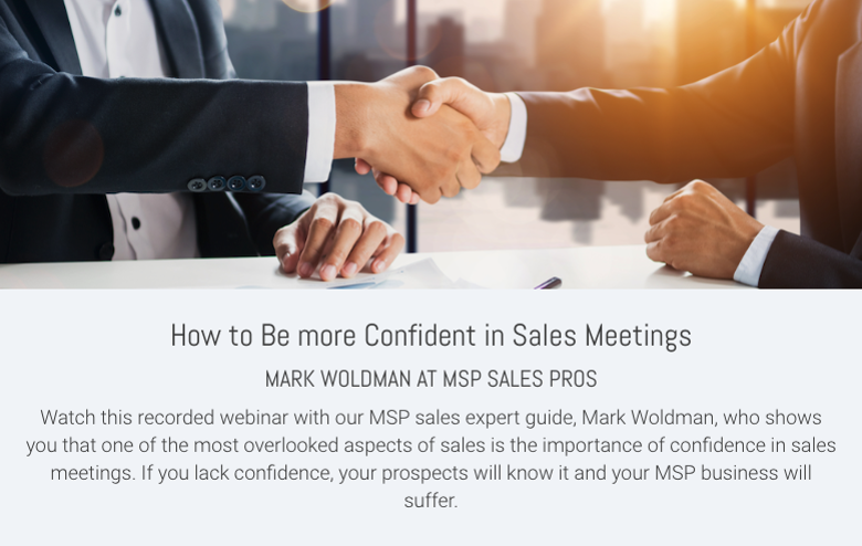 How to Be more Confident in Sales Meetings