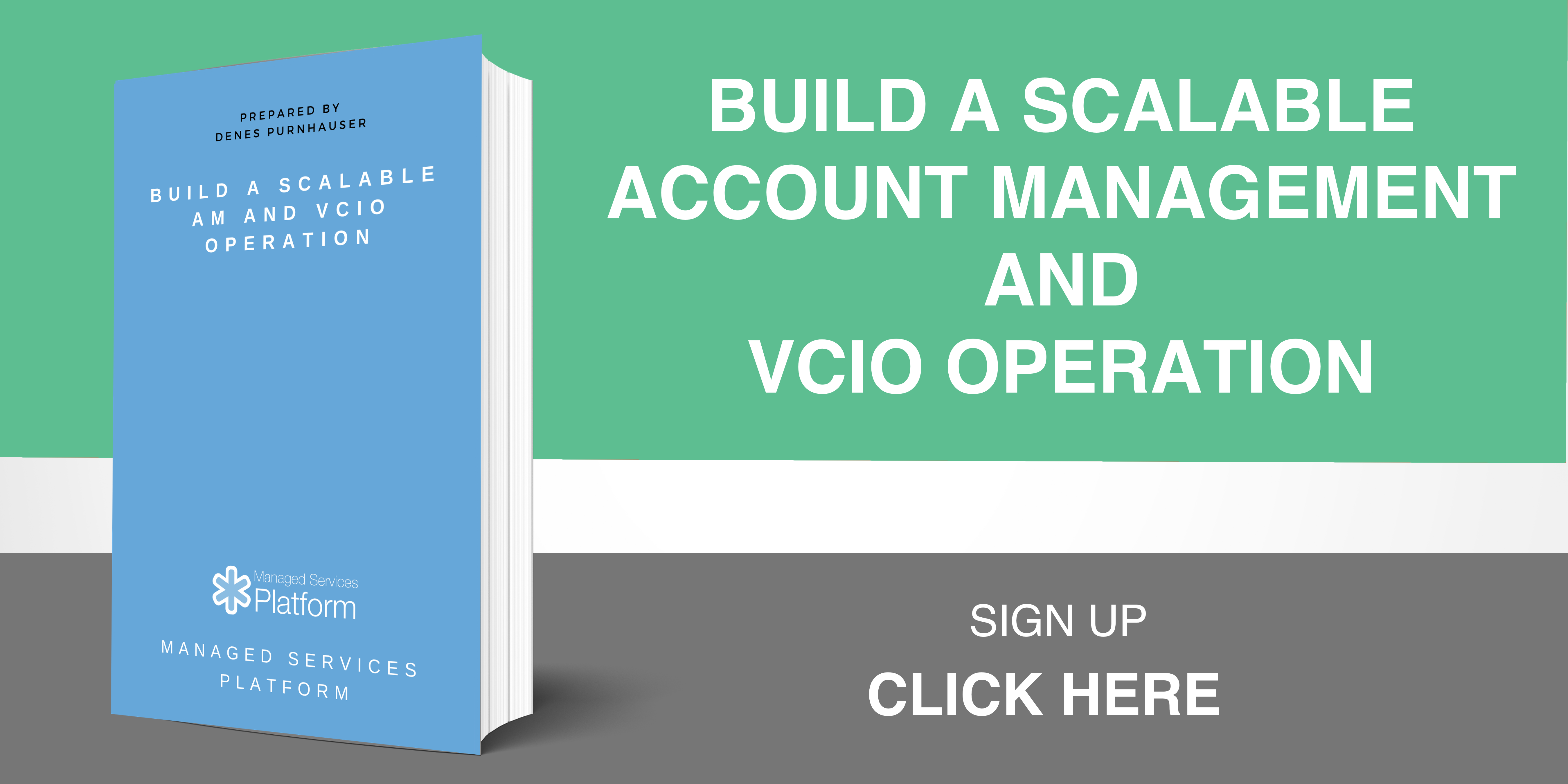 Build a scalable Account Management and vCIO operation
