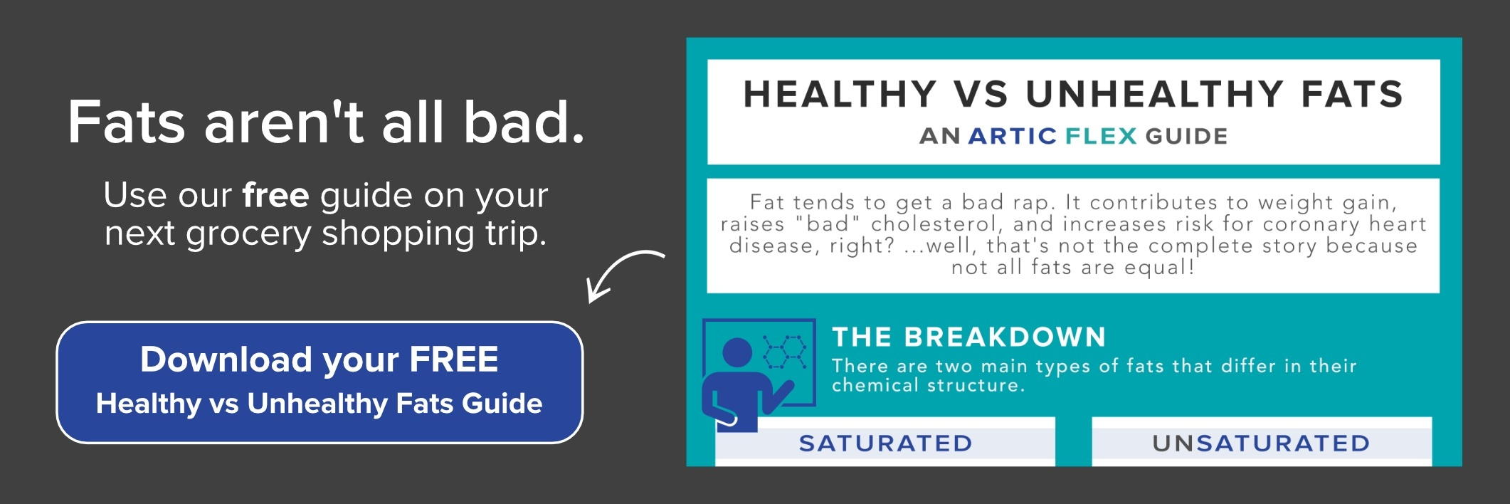 Download the FREE Healthy vs Unhealthy Fats Guide