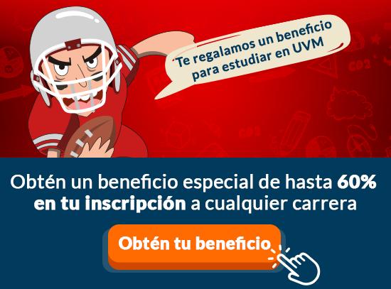 Obtén un beneficio especial para tu inscripción a UVM.