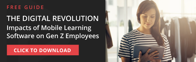 the digital revolution - impacts of mobile learning software on gen z employees