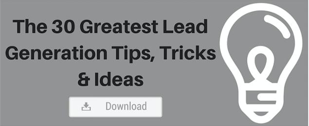 lead generation tips, tricks, ideas
