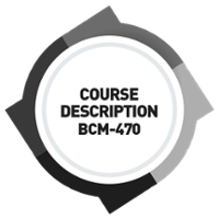 [WSQ-BCM-470] Course Description Developing A BCM Training and Learning Roadmap