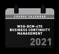 [WSQ-BCM-470] Course Schedule 2021