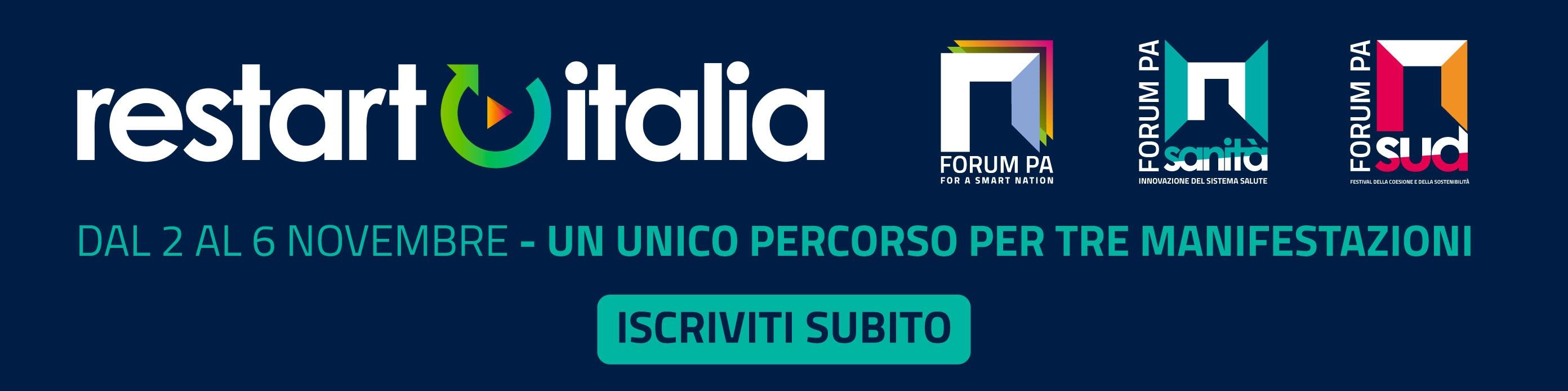 ForumPa Restart Italia - Dal 2 al 6 novembre