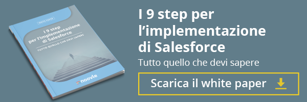 Scopri i 9 step per l'implementazione di Salesforce, clicca qui per scaricare il White Paper!
