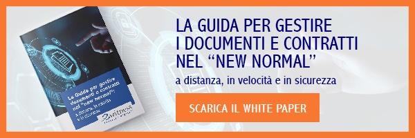 """CLICCA QUI per scaricare il White Paper:""""La guida per gestire i documenti e contratti nel """"NEW NORMAL"""""""