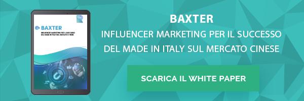 Baxter: Influencer Marketing per il successo del Made in Italy sul mercato cinese