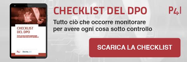 Checklist del DPO Cosa monitorare per avere tutto sotto controllo. Scarica la checklist