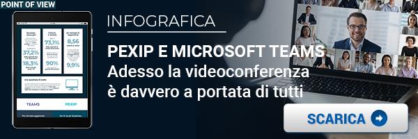 """CLICCA QUI per scaricare l'infografica: """"Pexip e Microsoft Teams: la videoconferenza alla portata di tutti"""""""