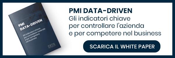 """Clicca qui e scarica il White Paper: """"PMI data driven: gli indicatori chiave per controllare l'azienda e per competere nel business"""""""