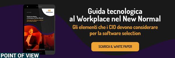 Clicca qui e scarica la guida tecnologica al workplace nel new normal!