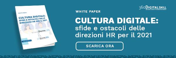 """CLICCA QUI per scaricare il White Paper: """"Cultura digitale: sfide e ostacoli delle direzioni HR per il 2021"""""""