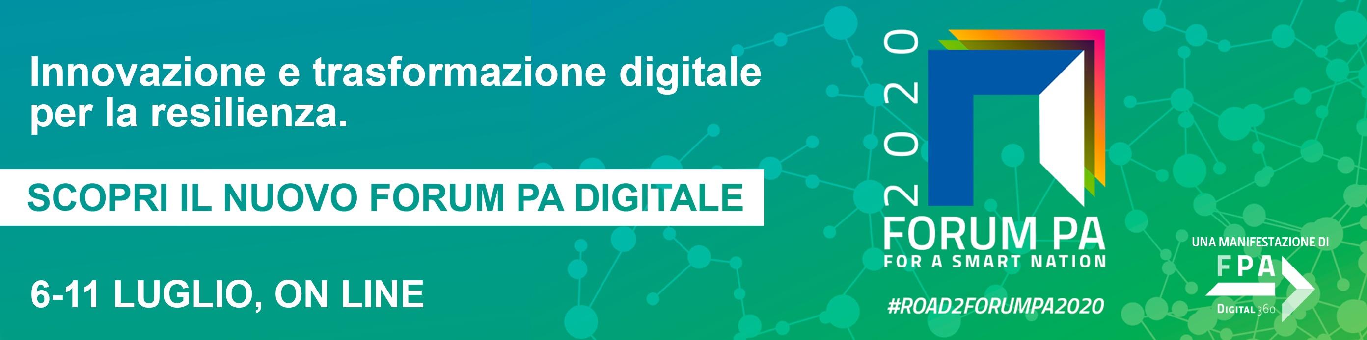 Innovazione e trasformazione digitale per la resilienza - Scopri il nuovo Forum PA digitale
