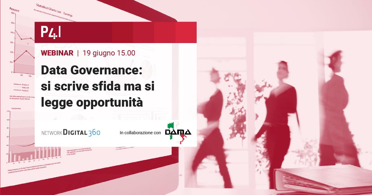 Clicca qui per iscriverti al Webinar del 19 Giugno - Data governance: la gestione dai dati per il business vincente