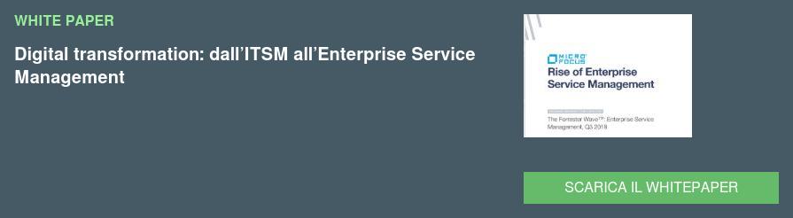 WHITE PAPER Enterprise Service Management: fornire risposte IT già pronte per  il business  SCARICA IL WHITEPAPER