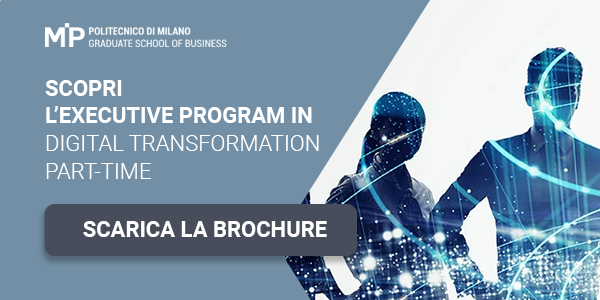 "Clicca qui per scaricare la brochure: ""Executive program in Digital Transformation"""