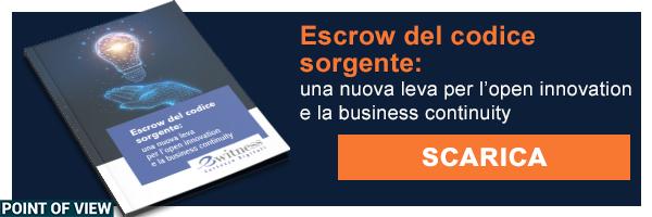 Escrow del codie sorgente - una nuova leva per l'open innovation e la business continuity
