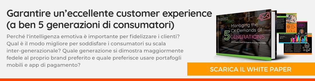 Garantire un'eccellente customer experience - scarica il whitepaper