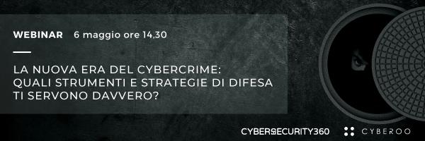 """CLICCA QUI per iscriverti al webinar: """"La nuova era del cyber crimine"""""""