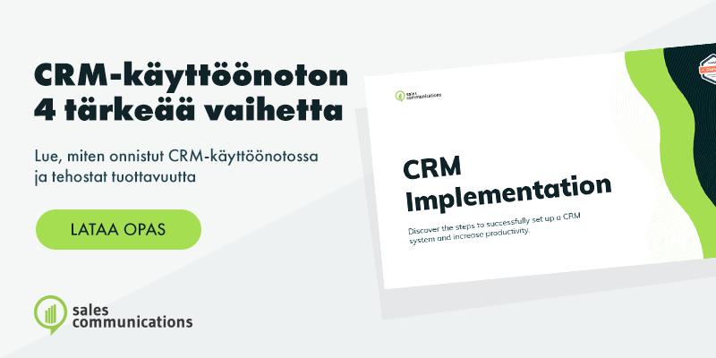 CRM-käyttöönoton 4 tärkeää vaihetta