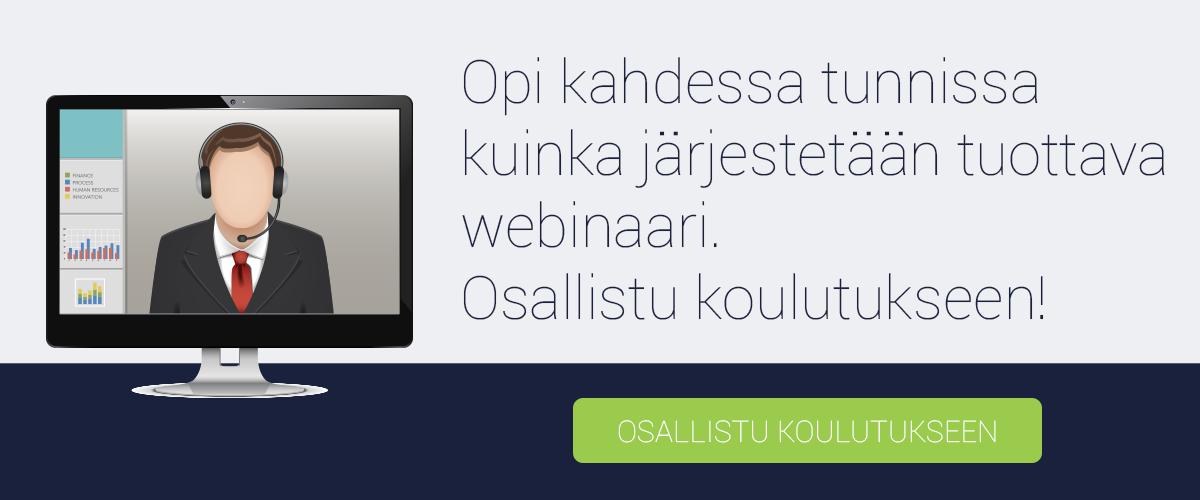 Osallistu webinaari koulutukseen