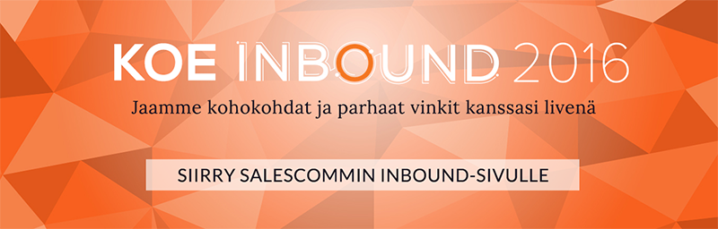 Koe Inbound 2016 Salescommin kanssa