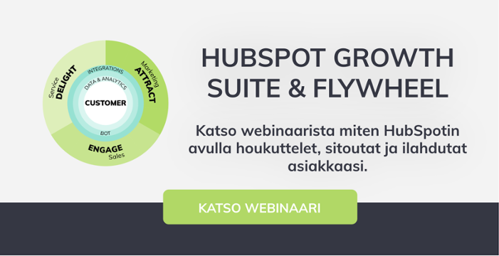 Katso webinaari HubSpotin Growth Suitesta