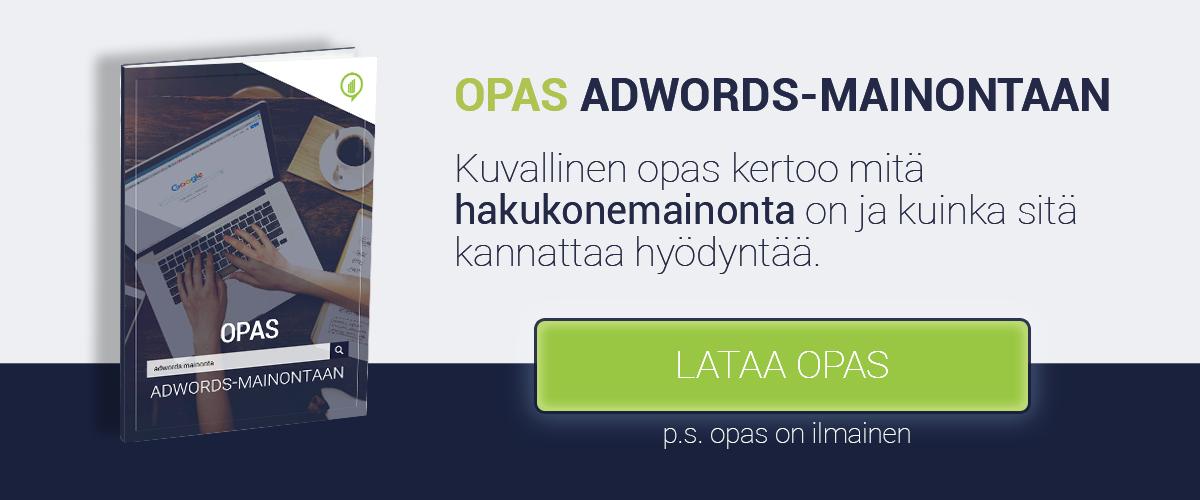 Lataa opas AdWords-mainontaan