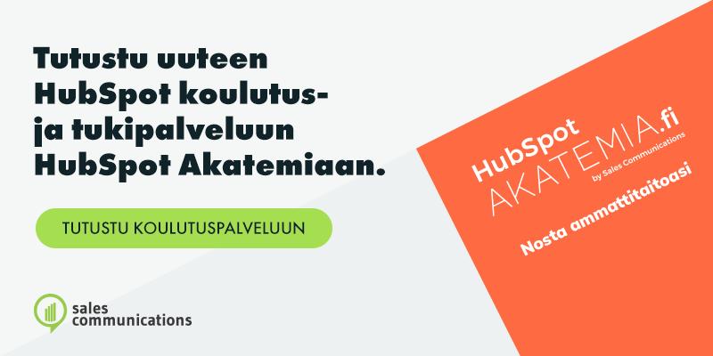 Tutustu uuteen HubSpot koulutus- ja tukipalveluun