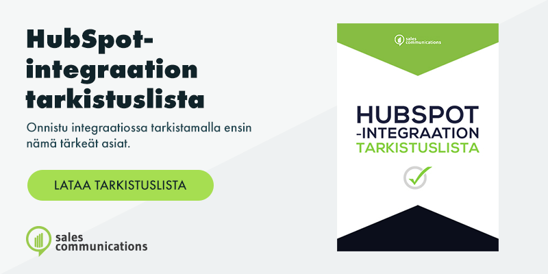 Lataa Hubspot-integraation tarkistuslista