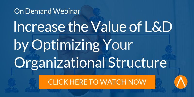 Watch the On-Demand Webinar: Increase the Value of L&D by Optimizing Your Organizational Structure