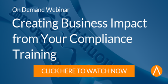Watch the On-Demand Webinar: Creating Business Impact from Your Compliance Training