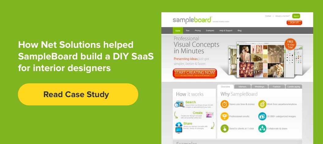 How Net Solutions helped SampleBoard build  A DIY SaaS for Interior Designers