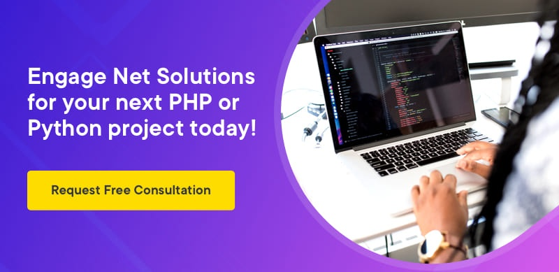Engage Net Solutions for your next PHP or Python project