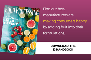 Find out how manufacturers are making consumers happy by adding fruit into  their formulations.Download the E-Handbook: Fruitful Formulations' Halo Effect