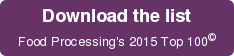 Download the list   Food Processing's 2015 Top 100©