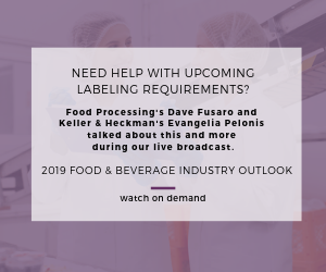 2019 Outlook Webinar Labeling