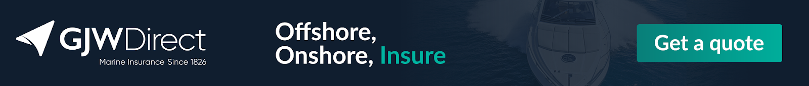 Get a quote for all inclusive boat insurance with GJW