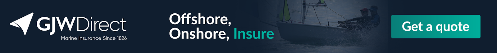 Get a quote for all inclusive Dinghy insurance with GJW