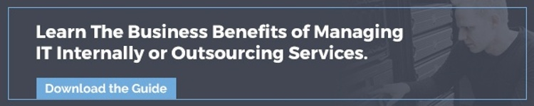 The Business Benefits of Managing IT Internally or Outsourcing Services