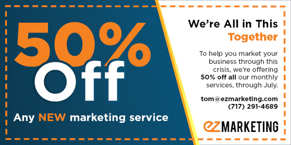 50% off any new marketing service