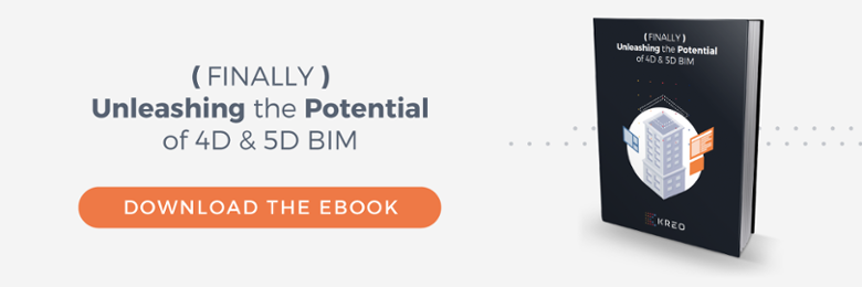 Download Kreo's eBook to learn how we are unleashing the potential of 4D & 5D BIM