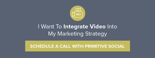 I want to integrate video into my marketing strategy | schedule a call with primitive social
