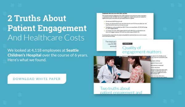 2 truths about patient engagement and healthcare costs: download white paper