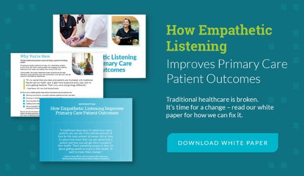 how empathetic listening improves primary cate patient outcomes - download white paper