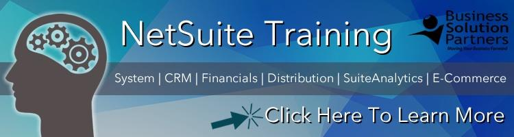 NetSuite Training - Click Here To Learn More